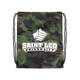 Camo Drawstring Backpack-Saint Leo University - Official Logo