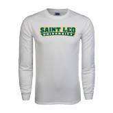 White Long Sleeve T Shirt-Saint Leo University
