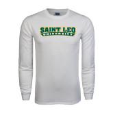 White Long Sleeve T Shirt-Saint Leo University