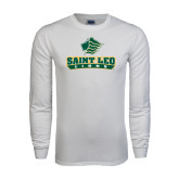 White Long Sleeve T Shirt-Saint Leo Lions