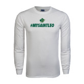White Long Sleeve T Shirt-MySaintLeo