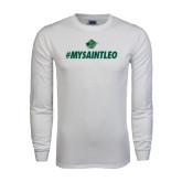 White Long Sleeve T Shirt-MySaintLeo