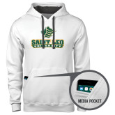 Contemporary Sofspun White Hoodie-Saint Leo University - Official Logo