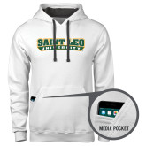 Contemporary Sofspun White Hoodie-Saint Leo University