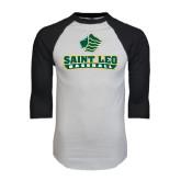 White/Black Raglan Baseball T-Shirt-Basball