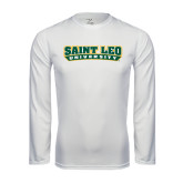 Syntrel Performance White Longsleeve Shirt-Saint Leo University