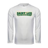 Performance White Longsleeve Shirt-Saint Leo University