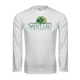Syntrel Performance White Longsleeve Shirt-Saint Leo University - Institutional Mark