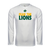 Syntrel Performance White Longsleeve Shirt-Fear The Lions