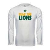 Performance White Longsleeve Shirt-Fear The Lions