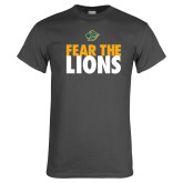 Charcoal T Shirt-Fear The Lions