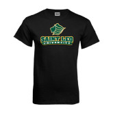 Black T Shirt-Saint Leo University - Official Logo Distressed