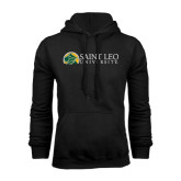 Black Fleece Hoodie-Saint Leo University - Institutional Mark Flat