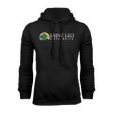 Black Fleece Hoodie-Saint Leo University - Institutional Mark Flat