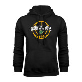 Black Fleece Hoodie-Basketball Ball Design