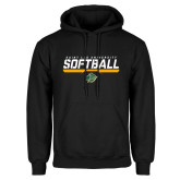 Black Fleece Hoodie-Softball Script Design