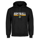Black Fleece Hoodie-Softball Script Design