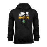 Black Fleece Hoodie-Game Set Match Tennis Design