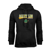 Black Fleece Hoodie-Lacrosse Stick Design