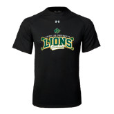 Under Armour Black Tech Tee-Baseball Crossed Bats Design