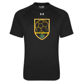 Under Armour Black Tech Tee-Soccer Swoosh Design