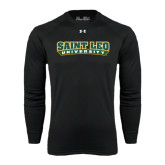 Under Armour Black Long Sleeve Tech Tee-Saint Leo University