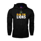 Black Fleece Full Zip Hoodie-Fear The Lions