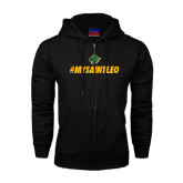 Black Fleece Full Zip Hoodie-MySaintLeo