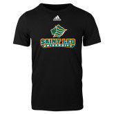 Adidas Black Logo T Shirt-Saint Leo University - Official Logo