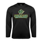 Performance Black Longsleeve Shirt-Saint Leo University - Official Logo