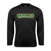 Syntrel Performance Black Longsleeve Shirt-Saint Leo University