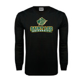Black Long Sleeve TShirt-Saint Leo University - Official Logo