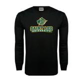 Black Long Sleeve TShirt-Saint Leo University - Official Logo