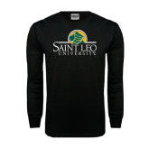 Black Long Sleeve TShirt-Saint Leo University - Institutional Mark