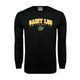 Black Long Sleeve TShirt-Arched Sait Leo University w/ Lion Head