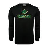 Black Long Sleeve TShirt-Saint Leo University - Official Logo Distressed
