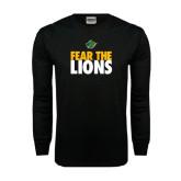 Black Long Sleeve TShirt-Fear The Lions