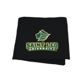 Black Sweatshirt Blanket-Saint Leo University - Official Logo