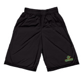 Midcourt Performance Black 9 Inch Game Short-Saint Leo University - Official Logo