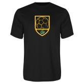 Performance Black Tee-Soccer Swoosh Design