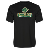 Syntrel Performance Black Tee-Saint Leo University - Official Logo
