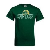 Dark Green T Shirt-Saint Leo University - Institutional Mark