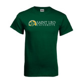 Dark Green T Shirt-Saint Leo University - Institutional Mark Flat