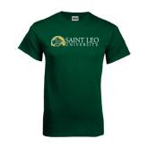 Dark Green T Shirt-Saint Leo University - Institutional Mark Flat
