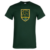 Dark Green T Shirt-Soccer Swoosh Design