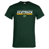 Dark Green T Shirt-Cross Country and Track Design