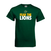 Dark Green T Shirt-Fear The Lions