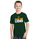 Youth Dark Green T Shirt-Fear The Lions