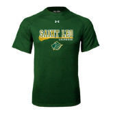 Under Armour Dark Green Tech Tee-Lacrosse Stick Design