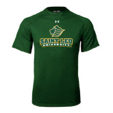 Under Armour Dark Green Tech Tee-Saint Leo University - Official Logo